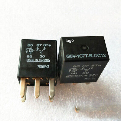 2 Pcs Micro Automotive Relay G8v-1c7t-r-dc12 For Omron G8v1c7trdc12 5pin