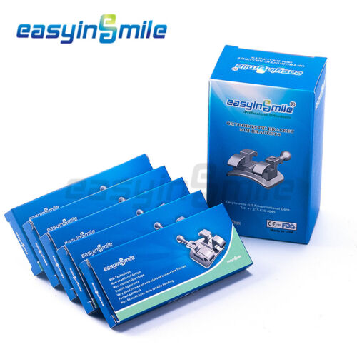 5Pack EASYINSMILE Orthodontic Metal Bracket Roth 022 3with H