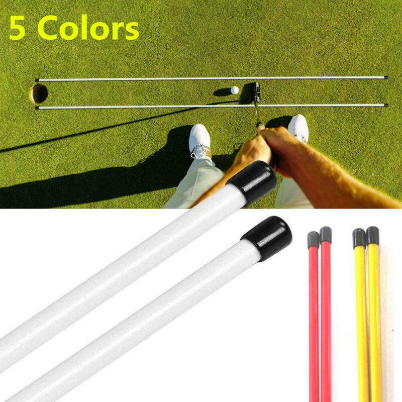 "Golf Alignment Sticks Swing Plane Tour Training Aids Practice Rods Helper 48"""