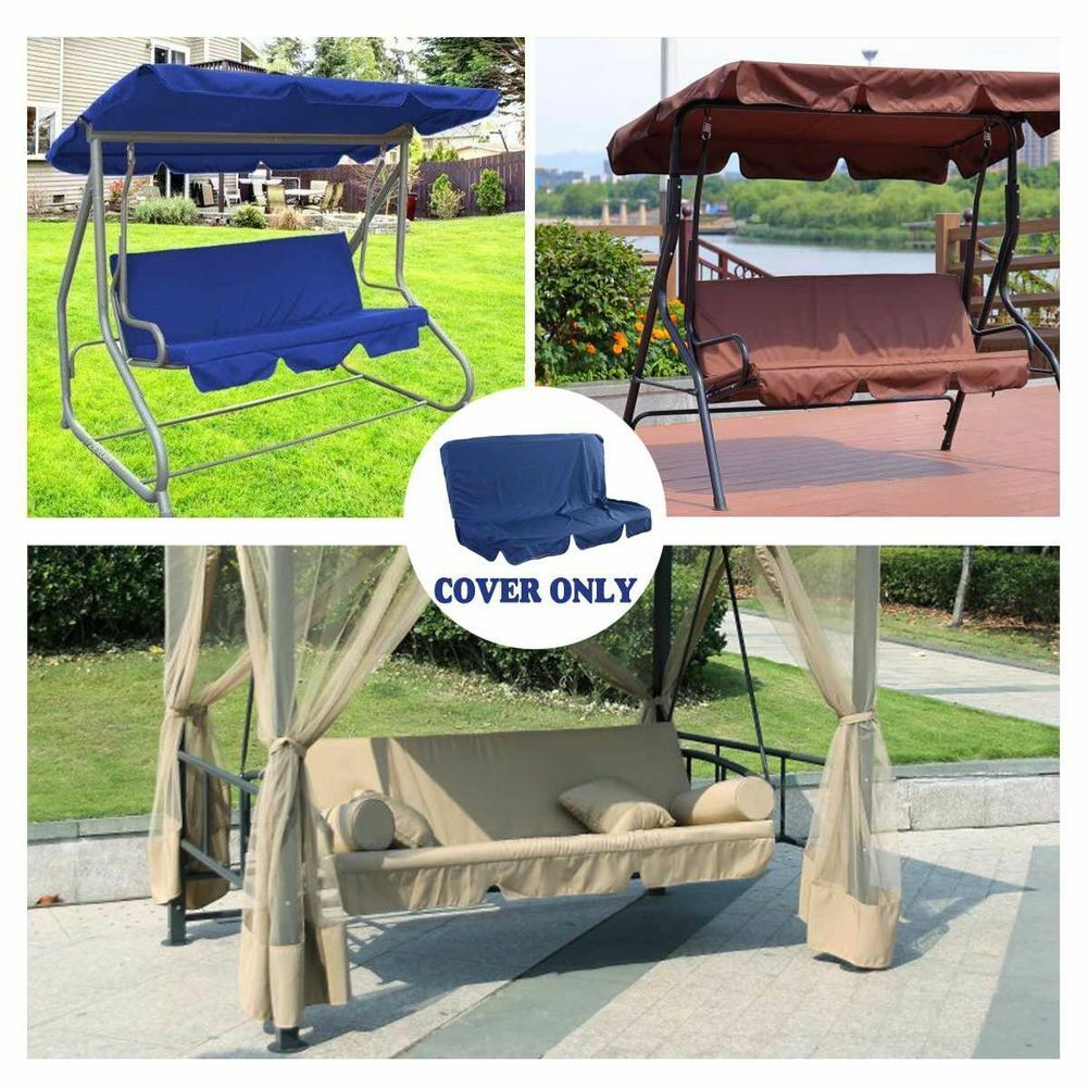 Outdoor Replacement Canopy Spare Cover for Garden Swing ...