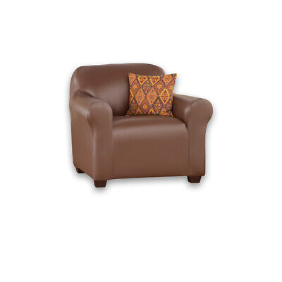 Faux Leather Stretch Slipcover