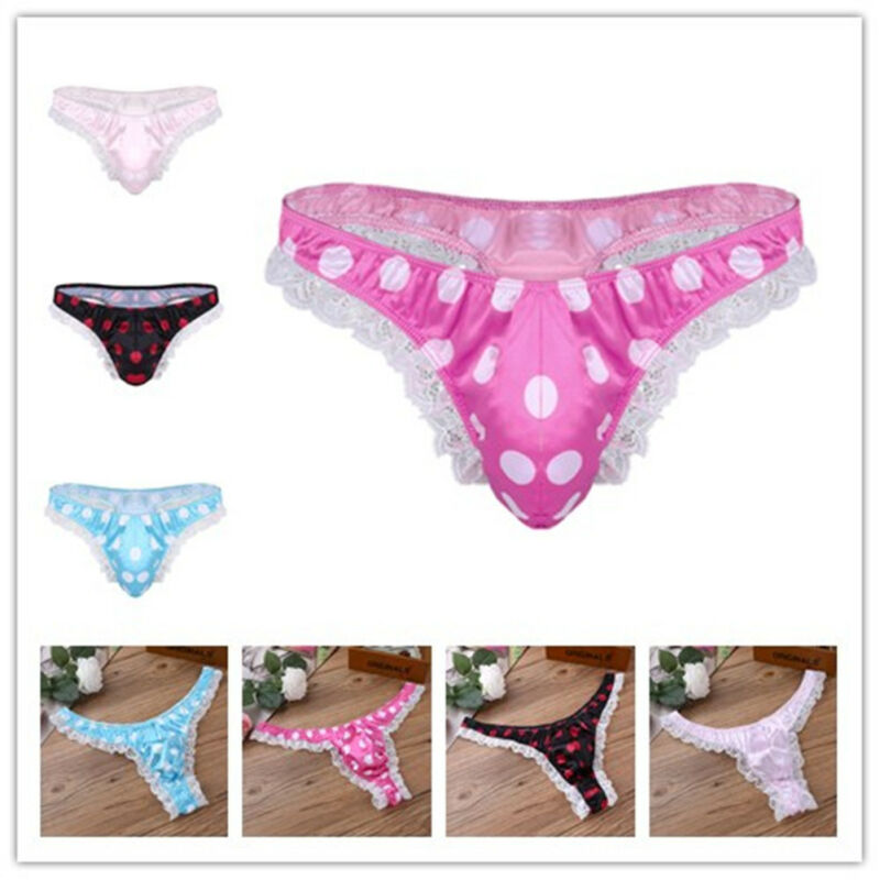 76c7233829ce Sexy Mens G-string Thong Jockstrap Ruffle Lace T-back Underwear Bikini High  CutUSD 1.99 · Sissy Mens Veil Back Underwear Boxer Briefs Pouch ...