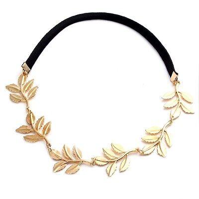 Mode Gold Elastisch Romantische Olive Zweig Blätter Stirnbänder