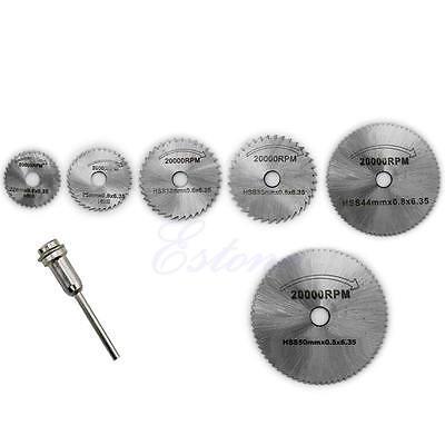 6PCS Circular Saw HSS Rotary Blades Tool ...