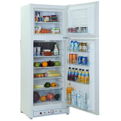 10.0 cu ft (Gas &Electric Thermostat)Propane Gas Refrigerator LPG Cottage - Gas Thermostat Refrigerator