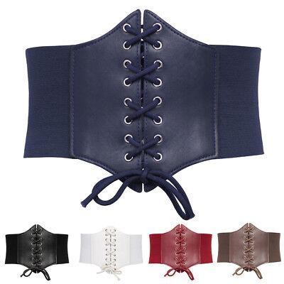 Women's Stretch Elastic Wide Corset Waist Belt Lace Up Punk Waistband-Plus-Size Plus Size Stretch Corset