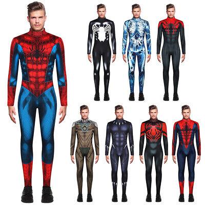 Herren Spiderman Black Panther Kostüm Cosplay Jumpsuit Overall - Nylon Herren Kostüm
