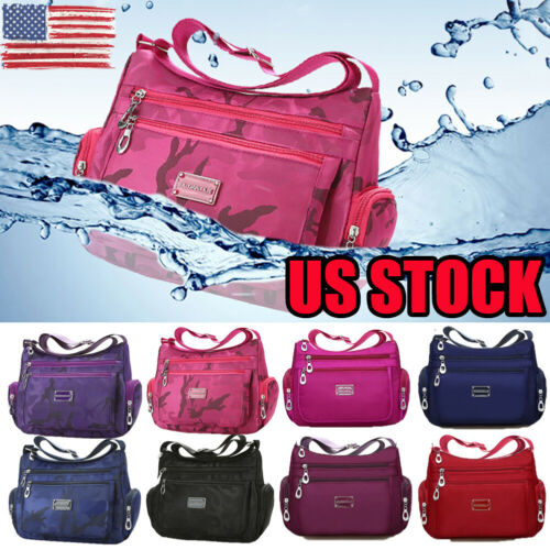 US Women's Tote Messenger Cross Body Handbag Hobo Bag Ladies