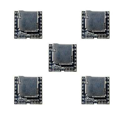 5pcs Dfplayer Tf Card U Disk Mini Mp3 Player Audio Voice Module For Arduino Uno