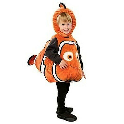 Disney Store NEMO Deluxe 3D Plush Costume 3 - 6 month Gold Fish Halloween NEW - 3 6 Month Halloween Costumes