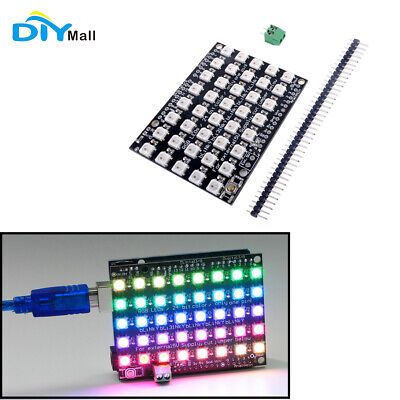 85 40 Rgb Led Ws2812 Matrix Shield Led Panel Programmable For Arduino