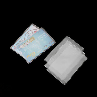 20pcs Rectangle Clear Plastic Work Badge Credit Card Holder Protective Case