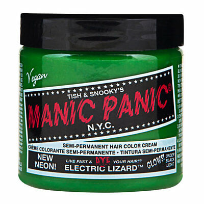 Neon Electric Lizard Green Manic Panic Vegan 4 Oz Hair Dye Color