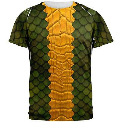Halloween Green Dragon Costume All Over Adult T-Shirt](All Green Halloween Costume)