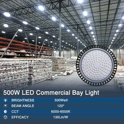 500w Ufo Led High Bay Light Warehouse Industrial Light Fixture 50000lm
