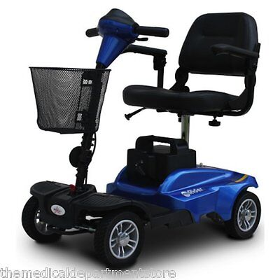 EV Rider MiniRider Power Mobility Scooter 4 Wheel Travel Compact Scooter - Blue