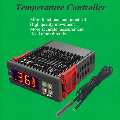 Dual Relay Output Led Digital Temperature Controller Thermostat Heating Cooling