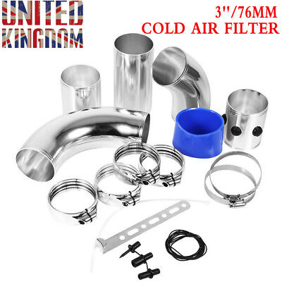 3''/76mm UNIVERSAL PERFORMANCE COLD AIR FILTER INDUCTION INTAKE PIPE HOSE KITS