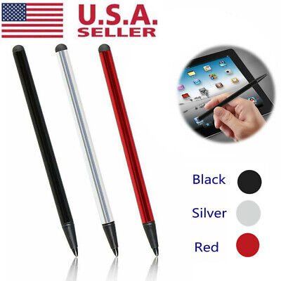 2in1 Capacitive Pen Touch Screen Stylus for iPhone iPad Samsung Tablet Phone PC