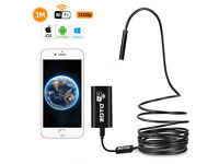 Inspection Camera, 1200P WIFI Endoscope 8 Adjustable LED Lights,IP67 Waterproof Android/IOS