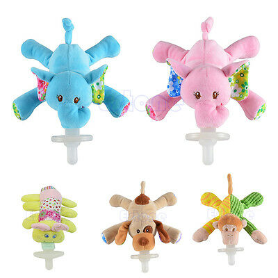Funny Baby Pacifiers (Cuddly Funny Infant Baby Boy Girl Plush Animal Dummy Pacifier Orthodontic)