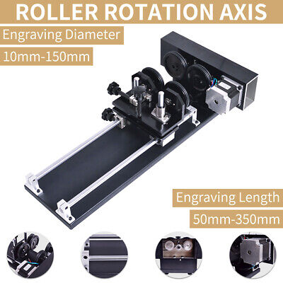 Rotary Attachment Rotate Engraving Laser Engraver Cutter Rotation Axis 2-phase