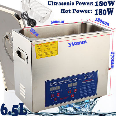 6l Ultrasonic Cleaner Stainless Steel Industry Heated Heater Wtimer F. Jewelry