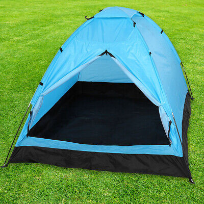 Kuppelzelt für 4 Personen Familienzelt Campingzelt blau 250 x 330 x 130