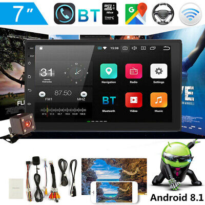 "7"" Car GPS Navi MP5 Player 16GB 2Din FM Android 8.1 WiFi Bluetooth w/ Camera US"