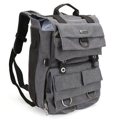 Camera Canvas Backpack w/ Rain Cover & Laptop Compartment For Pentax DSLR / SLR
