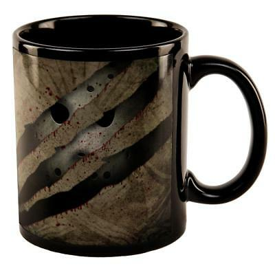 Halloween Horror Movie Mask Slasher Attack All Over Black Out Coffee Mug - Blackout Mask Halloween