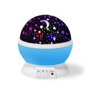 Kid Night Light Star Baby Room Bedroom LED Sky Children Projector Rotating Sleep