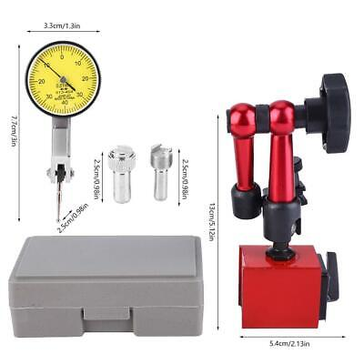 Dial Test Indicator 0-0.8mm High Gauge With Flexible Base Holder Stand