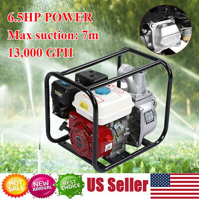 6.5hp 3 Gas Pool Gasoline Water Pump Semi Trash Pump 3 Inch Inlet And Outlet Us