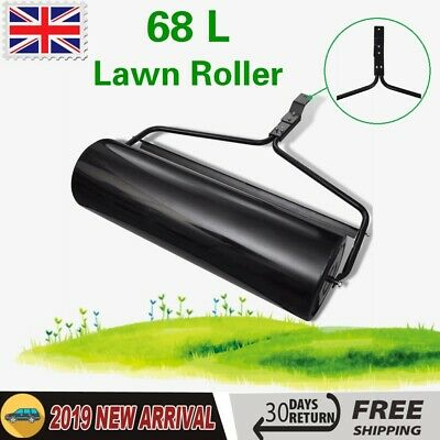 Heavy Duty Garden Lawn Roller Barrel Grass Seed  Sand Grass Filled 68 L Outdoor