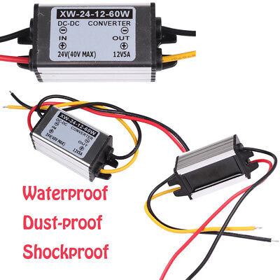 Waterproof 24v To 12v 5a 60w Dcdc Converter Regulator Wow