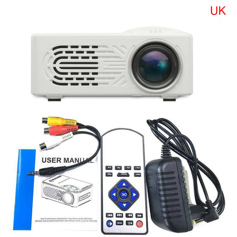 7000 Lumens 3D 1080P Full HD Mini Projector LED Multimedia Home Theater AV USB