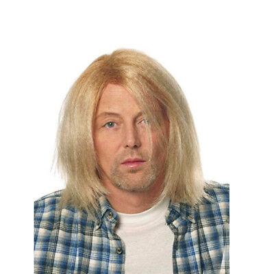 Kurt Cobain Blonde Wig Grunge Nirvana Adult Mens Costume Hair 90's Rocker Music - 90's Grunge Halloween Costume