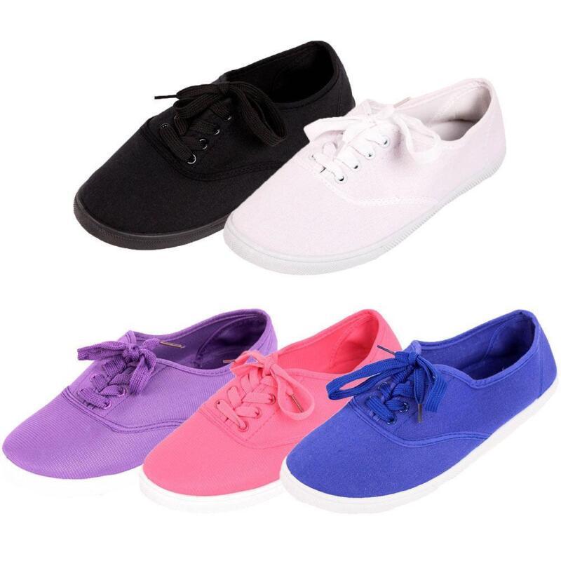 Womens White Polo Canvas Shoes