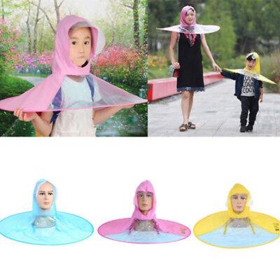 Faltbare Sonnenschirm Kinder Damen Regenschirm Hut Kopfschirm Hut Outdoor