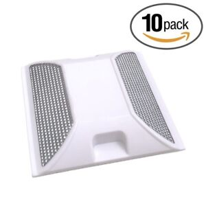 Road Reflectors Pack of 10   4 by 4 inch White Street Pavement & Asphalt Markers