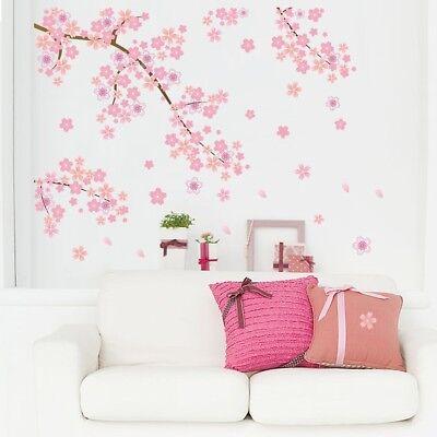 Cherry Flower Blossom Tree Branch Wall Sticker Home Decor Vinyl Art Decal #HN8 ()