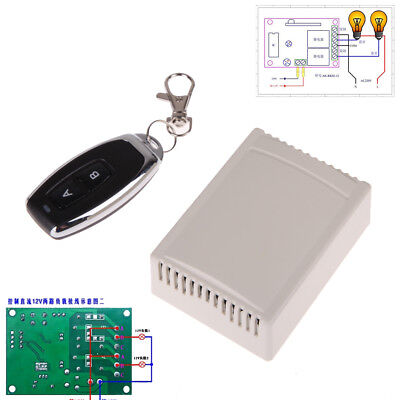2 Channel 12V 433MHz Learning Code RF Wireless Remote Control RC Relay Receiver