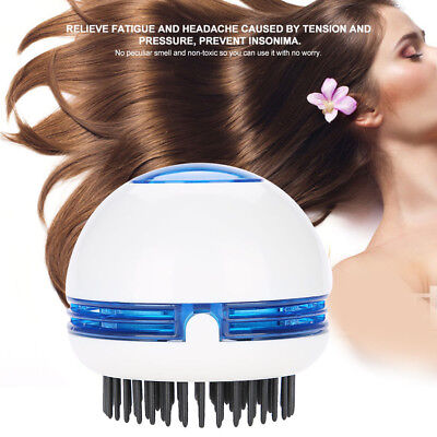 Electric Head Massager Anti-Static Scalp Relaxation Stress Relief Hair - White Hair Stress
