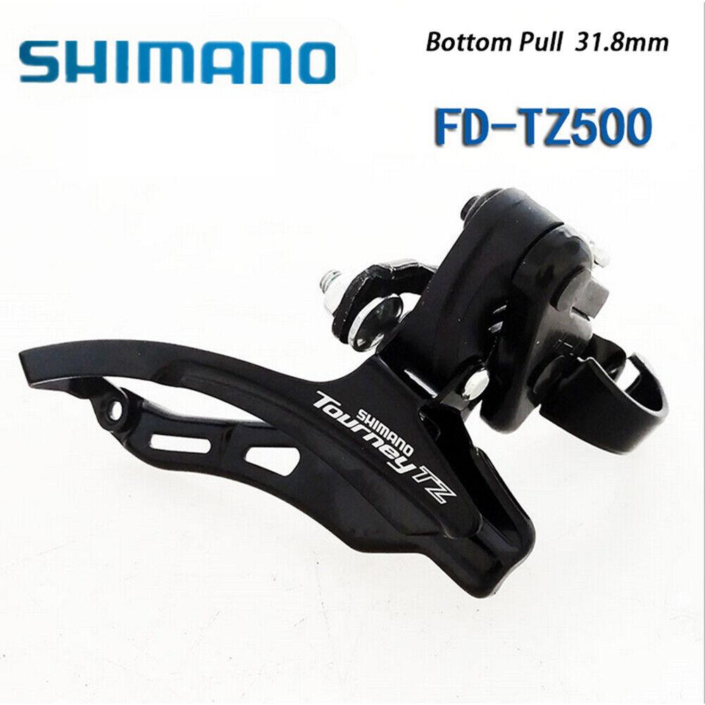 Tourney FD-TZ30 7//6 42T Front Derailleur Bike Parts Top Pull 31.8mm