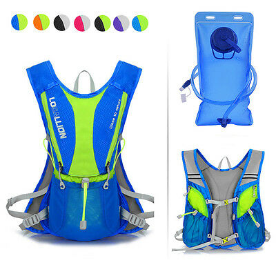 New 5L Outdoor Bicycle Bike Cycling Water Bladder Bag Hydration Backpack Hiking