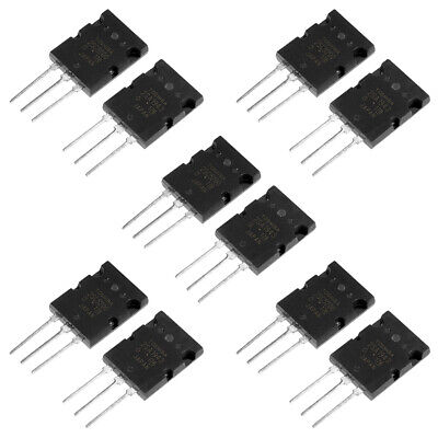 5 Pair10pcs Silicon 2sa1943 2sc5200 High Power Matched Audio Transistor
