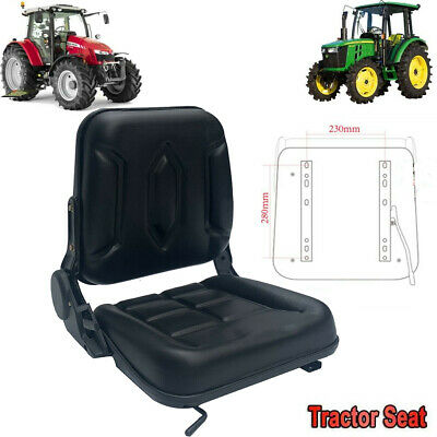 Garden Tractor Seat Forklift Seat Lawn Mower Seat Waterproof With Slidable Track