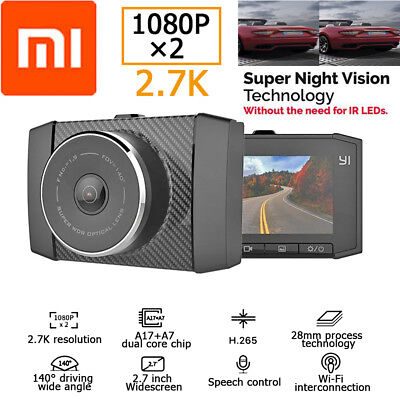 "Xiaomi Yi 2.7K WiFi 2.7"" LCD 140° Lens Car DVR Camera Voice Control WDR Dash Cam segunda mano  Embacar hacia Argentina"