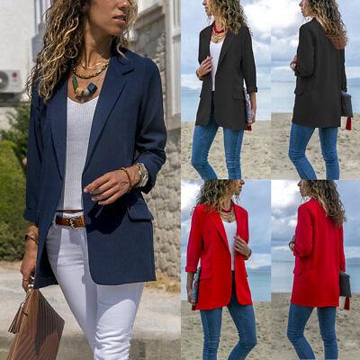 Women Elegant Fashion Slim Casual Business Blazer Suit Jacket Coat Outwear New